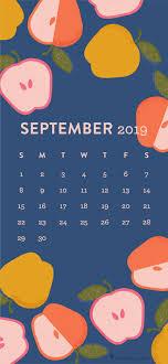 Colorful Apple September 2019 Calendar ...