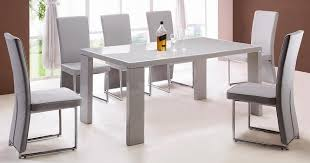 grey gloss table and chairs