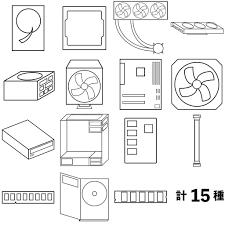 Pcパーツのアイコン画像illustratorファイルあり あやしいてっく