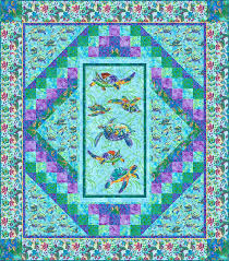 47 best Hawaiian Quilts images on Pinterest | Hawaiian quilts ... & Life's a Beach - Caribbean Sea Turtles - Turquoise Quilt fabric online store  Largest Selection, Fast Shipping, Best Images, Ship Worldwide Adamdwight.com