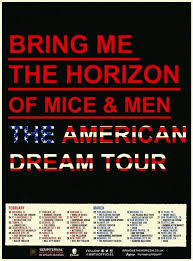 best of mice and men images austin carlile  the american dream tour today is the day can t wait to see all of this bands tonight