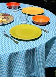 blue round tablecloths light gingham oilcloth tablecloth navy wedding