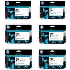 Hp Designer Genuine Hp 730 Designjet Ink Value Pack 6 X 130ml For Hp Designjet T1700 Printers