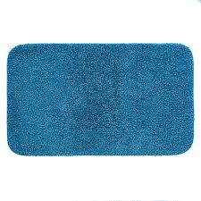 mohawk basic bath 19 5 in x 32 in nylon bath mat in french blue