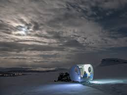 sleep under the northern lights in a finnish bubble sled condé nast traveler