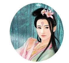ancient chinese women a tinge of vermeil to please the sweetheart