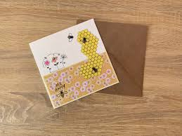 Bee Designs Malta Il A Bee And Floral Design Any Occasion Card