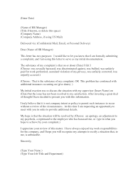 sample complaint letter to human resources about manager cover sample letter of complaint against your manager cover letter how to write a letter of complaint to human resources