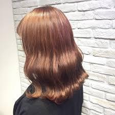 秋は温かみのある髪色が人気オレンジベージュのカタログfeely