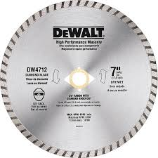 dado blade lowes. dw4712b 7-in high-performance diamond masonry saw blade dado lowes