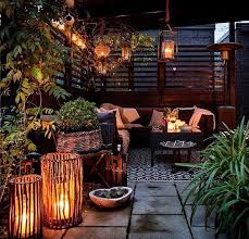 Moody lights would make any terrace more inviting if you want to spend your  free evening