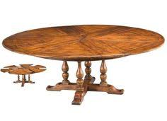 round dining table coverts leaves 84 dia 64 closed antique style new