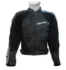 Teknic Mercury Black Leather Motorcycle Riding Jacket