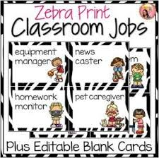 Classroom Job Chart Printable Free Classroom Job Charts 38 Creative Ideas For Assigning