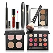 makeup set. huamianli 7pcs cosmetic makeup set 4 colors pressed powder mascara eyeshadow eyebrow lip gloss eyeliner