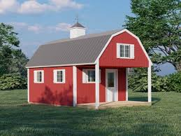 barn style cabin house plan with