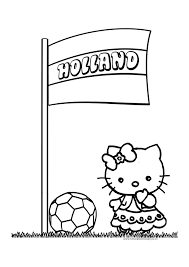 Hello Kitty Kleurplaten Voetbal Kleurplaten Voor Jou