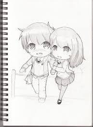 cute anime love chibi drawing. Sketch Book Chibi Couple By Qsholic For Cute Anime Love Drawing