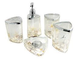 Decorative Bathroom Accessories Sets Decorative Beach Seashell Starfish Ocean style Acrylic Bathroom 21