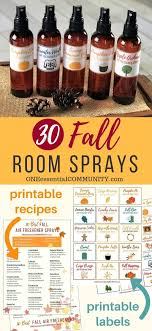 30 fall room spray recipes with essential oils easy to make all natural homemade