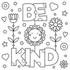 Excellent Inspiration Ideas Kindness Coloring Pages Quote Doodle Art