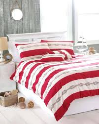 red king duvet red striped seaside super king duvet cover 2 pillowcase bed set red and
