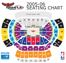 Atlanta State Farm Arena Seating Chart 2005 06 Arena Seating Chart Ticket Prices Atlanta Hawks
