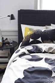 the pattern on the bolltistel duvet set a representation of dandelions printed in a structured