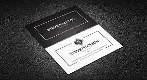 business card templates minimal black white individual business card template