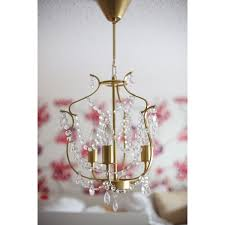 ikea kryssbo chandelier light pendant lamp glass nickel steel