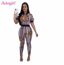 <b>Adogirl Women Sexy</b> Short Sleeve Summer Jumpsuits Gold Chain ...