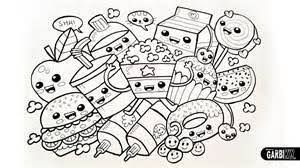 Small Picture Kawaii Junk Food Coloring Pages Coloring Coloring Pages