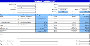Travel Request Form Exceltemplate Net