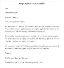 resume decline letter sample applicant rejection letter com resume decline letter sample applicant rejection letter