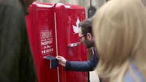 Canadian Vending Machines In Europe Enchanting Molson's WorldTraveling Beer Fridge Can Be Opened Only With A