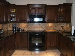 Kitchen : Kitchen Color Schemes With Black Appliances And Dark ...