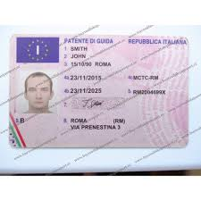 Driving Licence Fake Italy Online Of For Template Italian Sale Driver Driver's Drivers Licence Novelty Real License Buy
