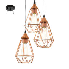 cluster pendant lighting. Special Offer Eglo 94196 Tarbes 3 Light Cluster Ceiling Pendant In Copper Lighting