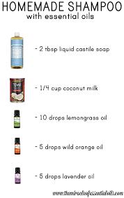 diy essential oil shampoo recipe
