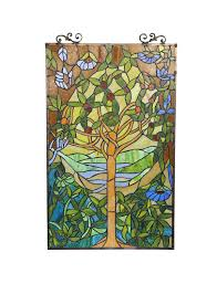 com chloe lighting tiffany style tree of life window panel arts crafts sewing
