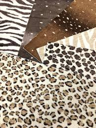 these nylon animal patterned pieces can be installed wall to made into antelope print carpet rugs
