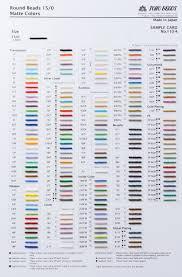 Toho Beads Color Chart Toho Beads