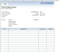 Invoice Statement Example Capability Statement Template For Word Invoice Monthly