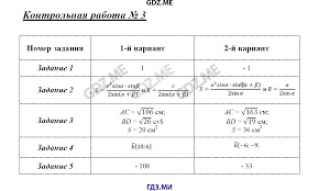 ГДЗ контрольные работы по геометрии класс Рурукин Контрольная работа №1 Контрольная работа №2