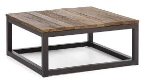 amazo zuo modern civic center square coffee table distressed natural kitchen dining reclaimed wood coffee table