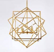 cage lamp cube cube three gold cubes gold cage lamp geometric modern pendant light wire cage