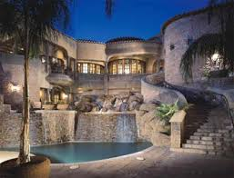 Tile Backyard Pool Waterfall Fountain Tile Everything There