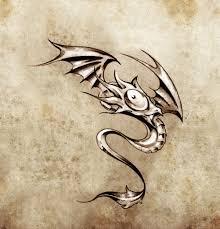 тату маленький дракон забавный маленький дракон эскиз тату