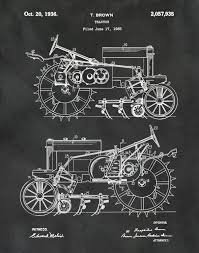 patent 1935 john deere b tractor art print or poster wall art gallery photo gallery photo gallery photo gallery photo gallery photo