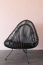 black wicker lounge chair from rockett st george